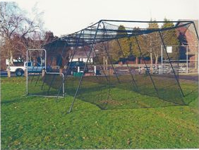 BATTING CAGE WITH FRAME FOR BASEBALL & SOFTBALL 60' Long x 14' Wide x 10' High